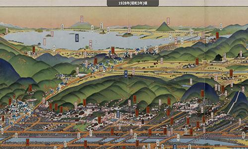びわ湖疏水船 マップ古地図